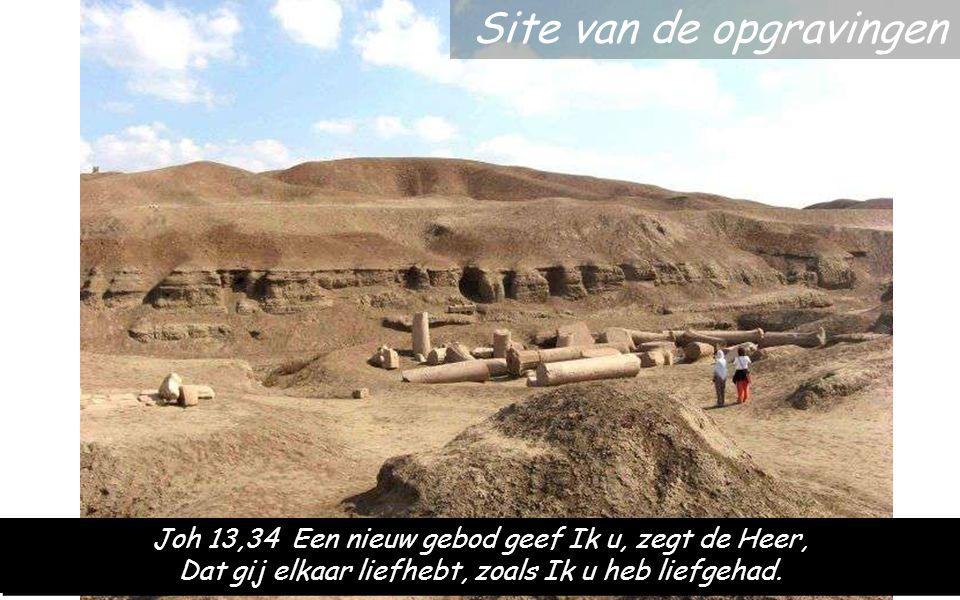 Site van de opgravingen Joh 13,34 Een nieuw gebod geef Ik u, zegt de Heer, Dat gij elkaar liefhebt, zoals Ik u heb liefgehad.
