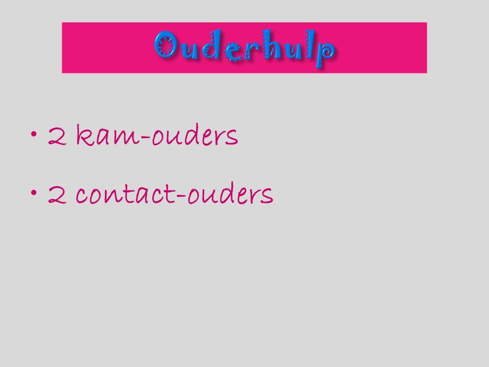 2 kam-ouders 2 contact-ouders