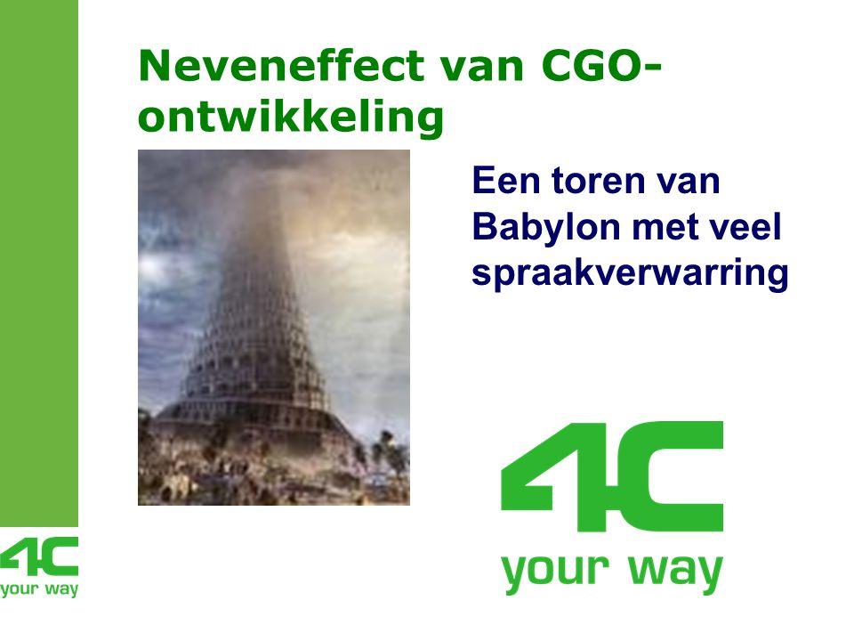 Neveneffect van CGO- ontwikkeling Een toren van Babylon met veel spraakverwarring