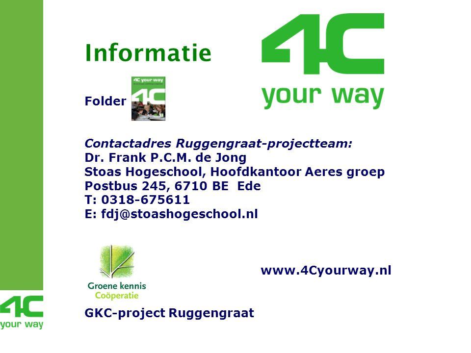Folder Contactadres Ruggengraat-projectteam: Dr. Frank P.C.M.