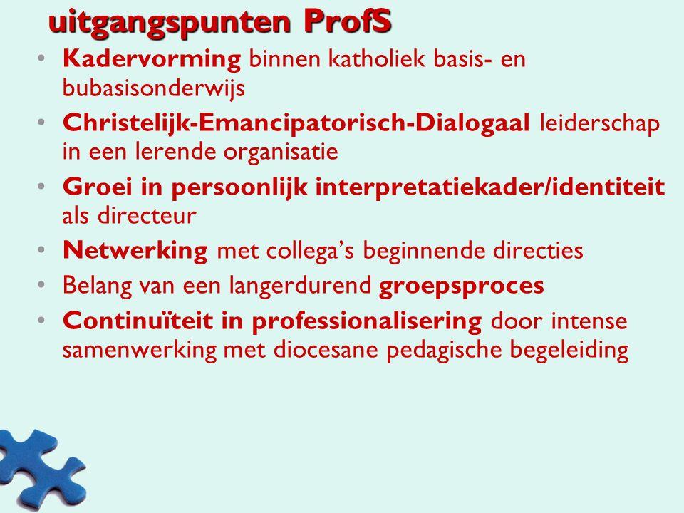 """Hoofddoel (brochure) Ons hoofddoel hierbij is """"een schoolleider vormen die met meer inzicht in zijn werk en in zichzelf, competenties heeft ontwikkeld"""