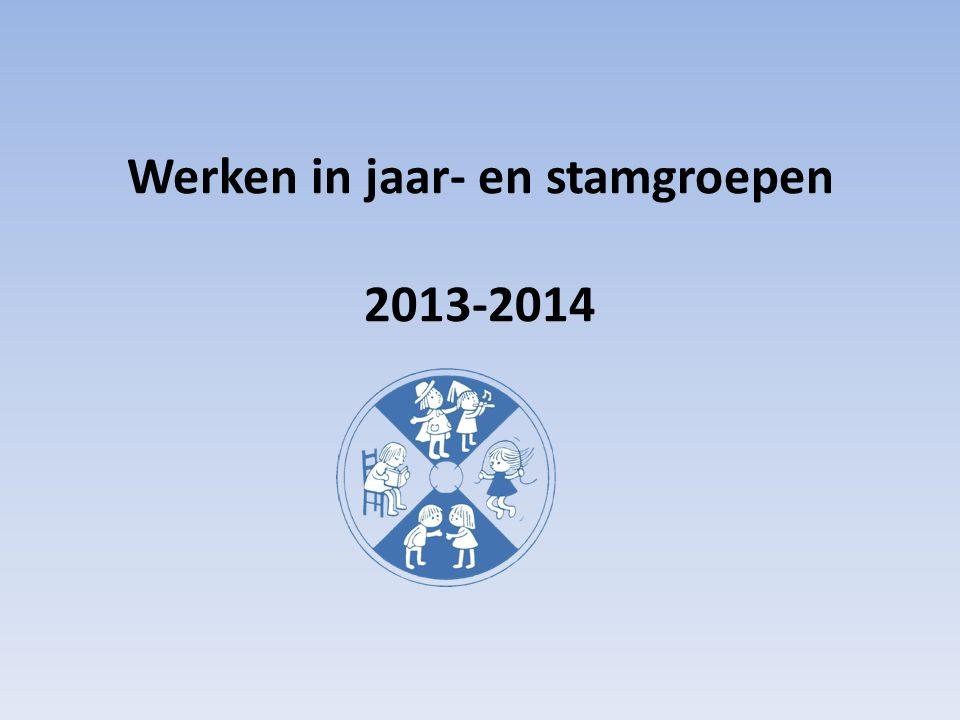 Werken in jaar- en stamgroepen 2013-2014
