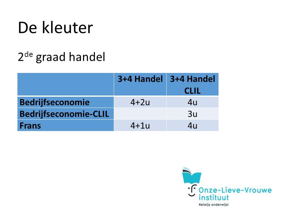 De kleuter 2 de graad handel 3+4 Handel CLIL Bedrijfseconomie4+2u4u Bedrijfseconomie-CLIL 3u Frans4+1u4u