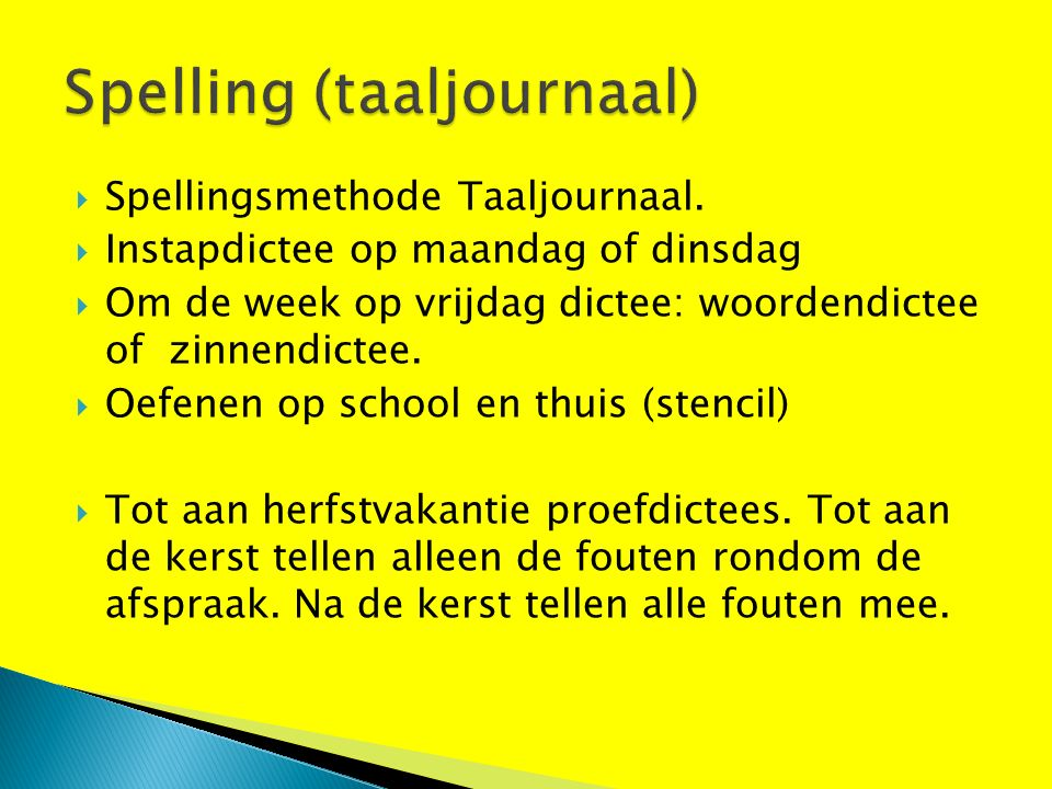  Spellingsmethode Taaljournaal.