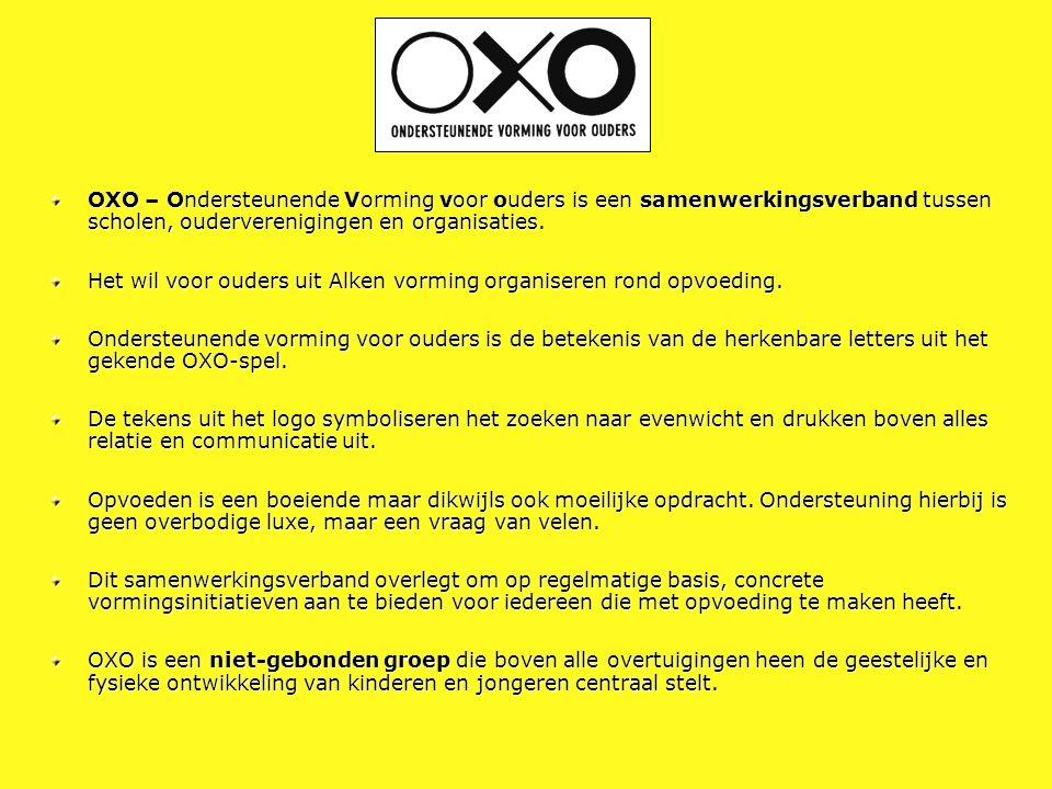 OXO – Ondersteunende Vorming voor ouders is een samenwerkingsverband tussen scholen, ouderverenigingen en organisaties.