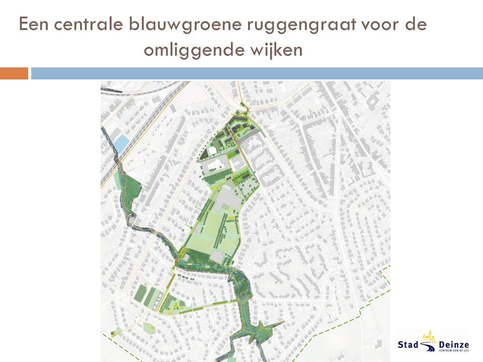 Een centrale blauwgroene ruggengraat voor de omliggende wijken