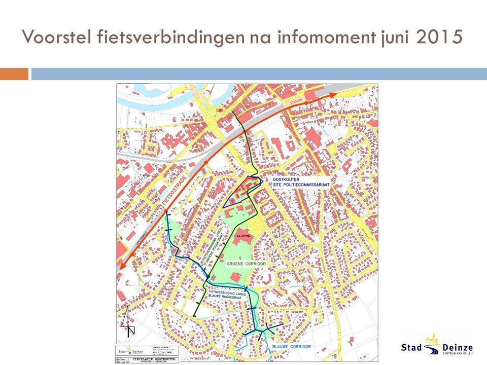 Voorstel fietsverbindingen na infomoment juni 2015