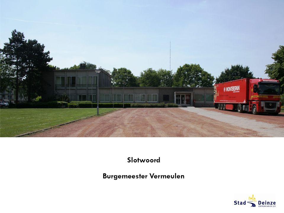 Slotwoord Burgemeester Vermeulen