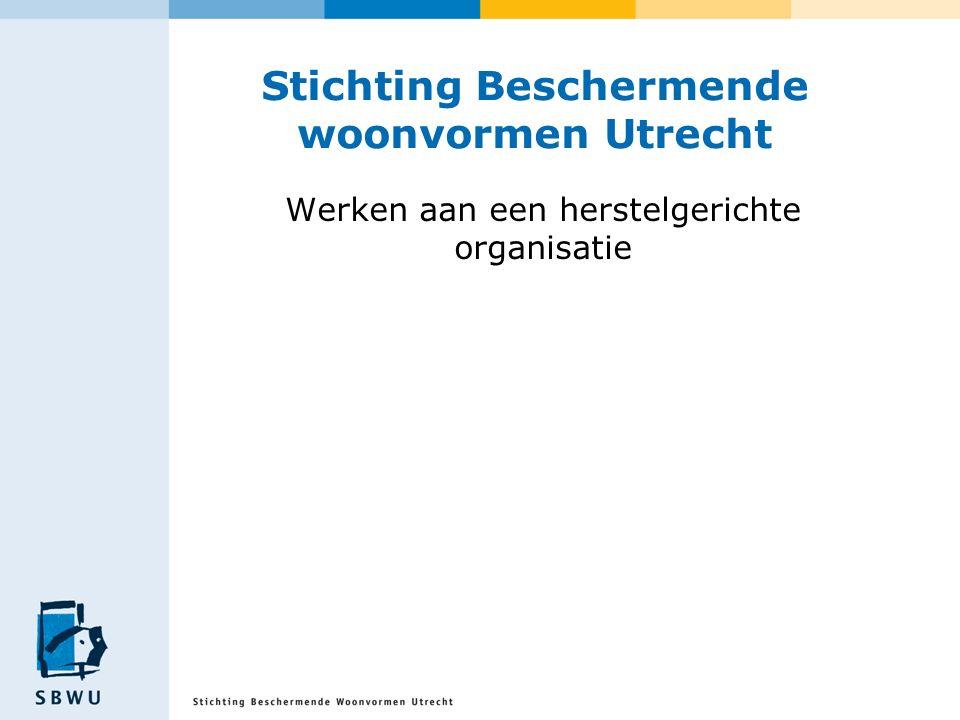 Stichting Beschermende woonvormen Utrecht Werken aan een herstelgerichte organisatie