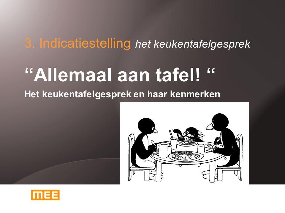 3. Indicatiestelling het keukentafelgesprek Allemaal aan tafel.