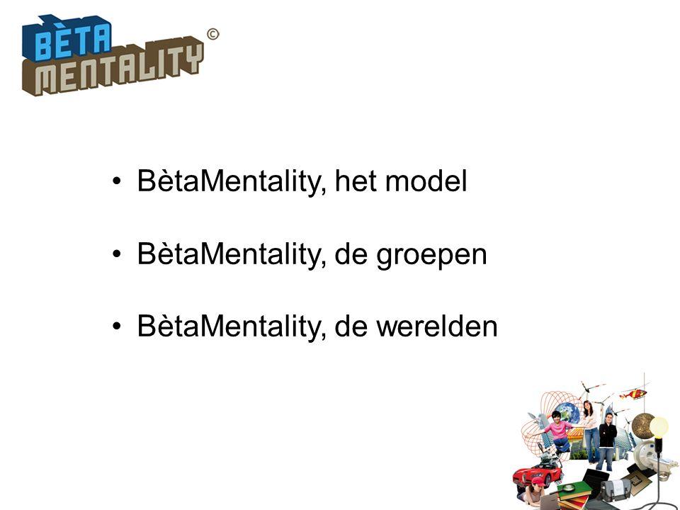 BètaMentality, het model BètaMentality, de groepen BètaMentality, de werelden