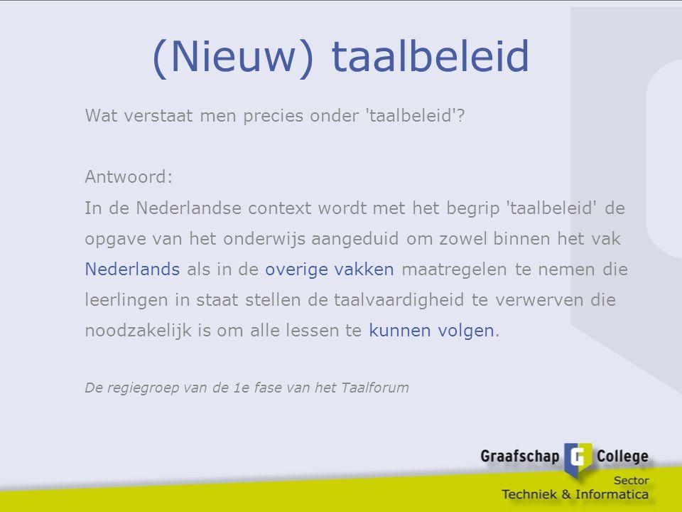 Positie van taalonderwijs leerling schoolbedrijf Referentieniveaus Meijerink