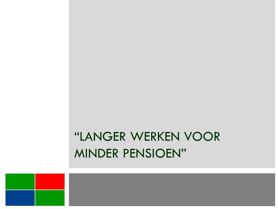 Langer werken voor minder pensioen.1.Studiejaren tellen niet meer mee.