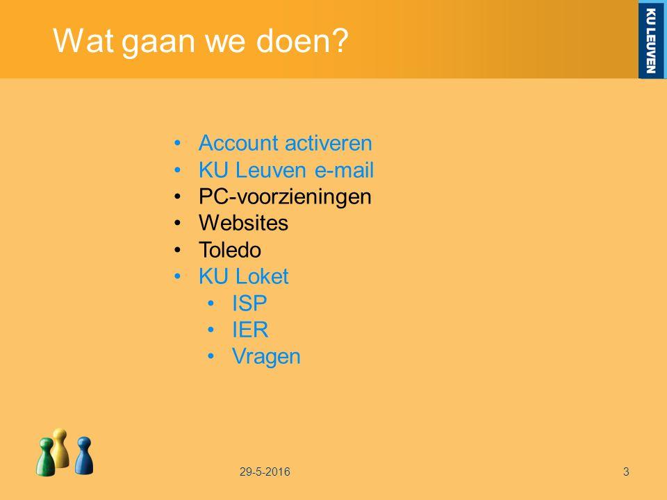Aan de slag met ISP en IER Ga naar de facultaire homepagina http://ppw.kuleuven.be/ Open je KU Loket Stel je ISP samen & kijk je IER na Vragen.