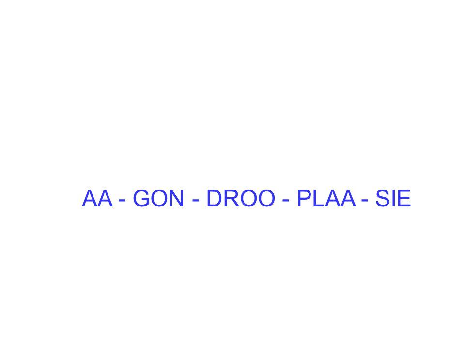 AA - GON - DROO - PLAA - SIE