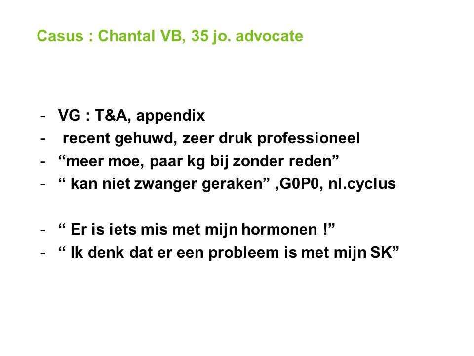 Casus : Chantal VB, 35 jo.
