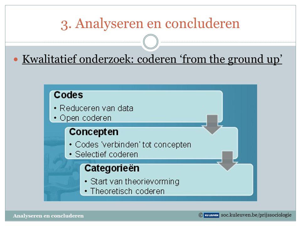 Taartdiagram Analyseren en concluderen © soc.kuleuven.be/prijssociologie
