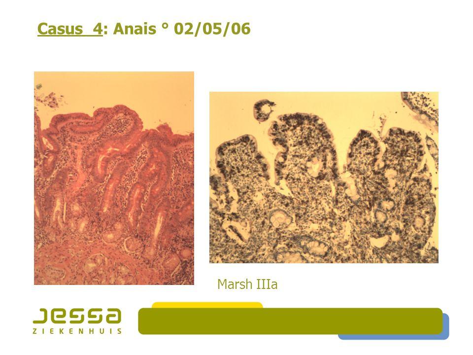 Casus 4: Anais ° 02/05/06 Marsh IIIa