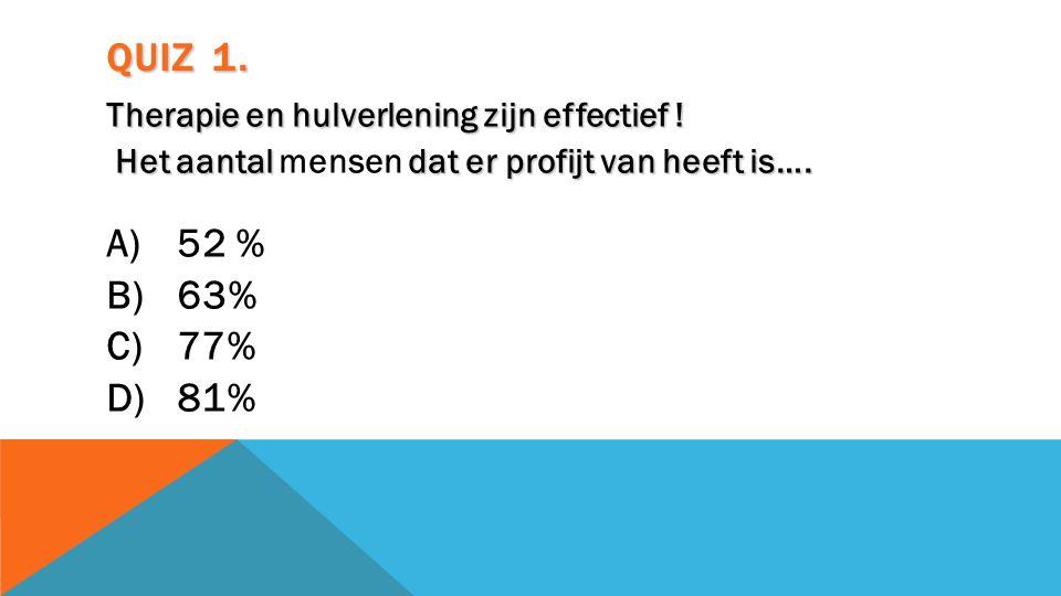 DE WERKRELATIE; Significant bewijs voor: Meer effect van de behandeling (lage rugpijn, Lupus) Betere behandelingstrouw.