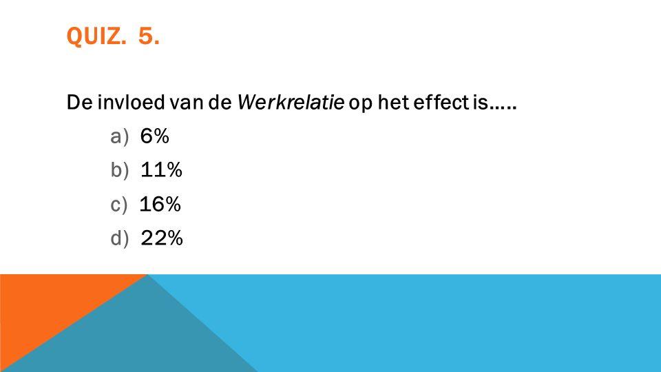 BEHANDELINGSEFFECTEN: 13% Placebo 4%- ? Methoden 1 % Werkrelatie 5-7% Feedback 2-4% Therapeut 6-9%