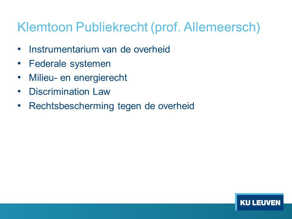 Klemtoon Publiekrecht (prof.