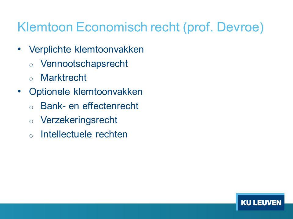 Klemtoon Economisch recht (prof.