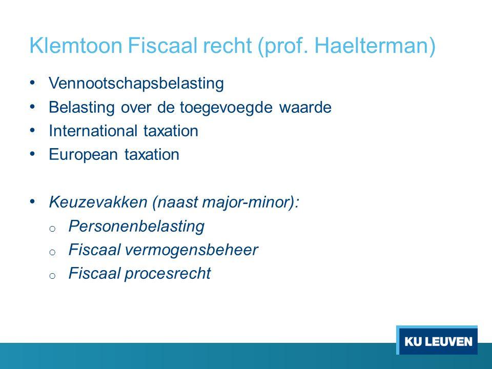 Klemtoon Fiscaal recht (prof.