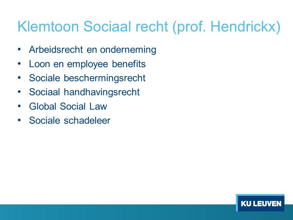 Klemtoon Sociaal recht (prof.