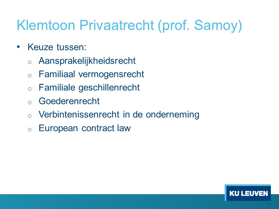 Klemtoon Privaatrecht (prof.