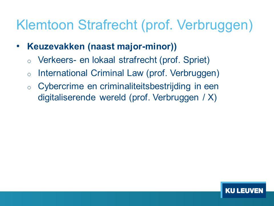 Klemtoon Strafrecht (prof.
