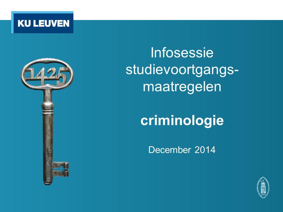 12 Voorbeeld Sam is ingeschreven in de bacheloropleiding criminologische wetenschappen.