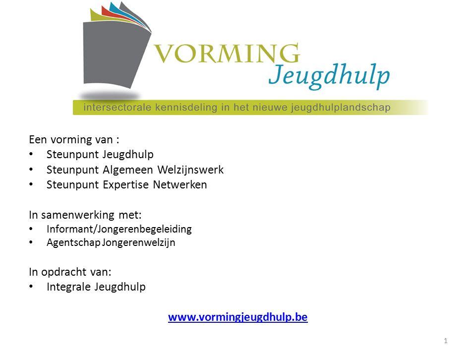 Een vorming van : Steunpunt Jeugdhulp Steunpunt Algemeen Welzijnswerk Steunpunt Expertise Netwerken In samenwerking met: Informant/Jongerenbegeleiding