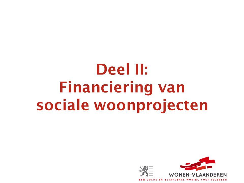 Deel II: Financiering van sociale woonprojecten