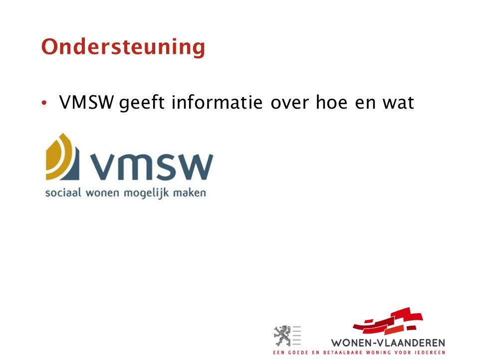 Ondersteuning VMSW geeft informatie over hoe en wat