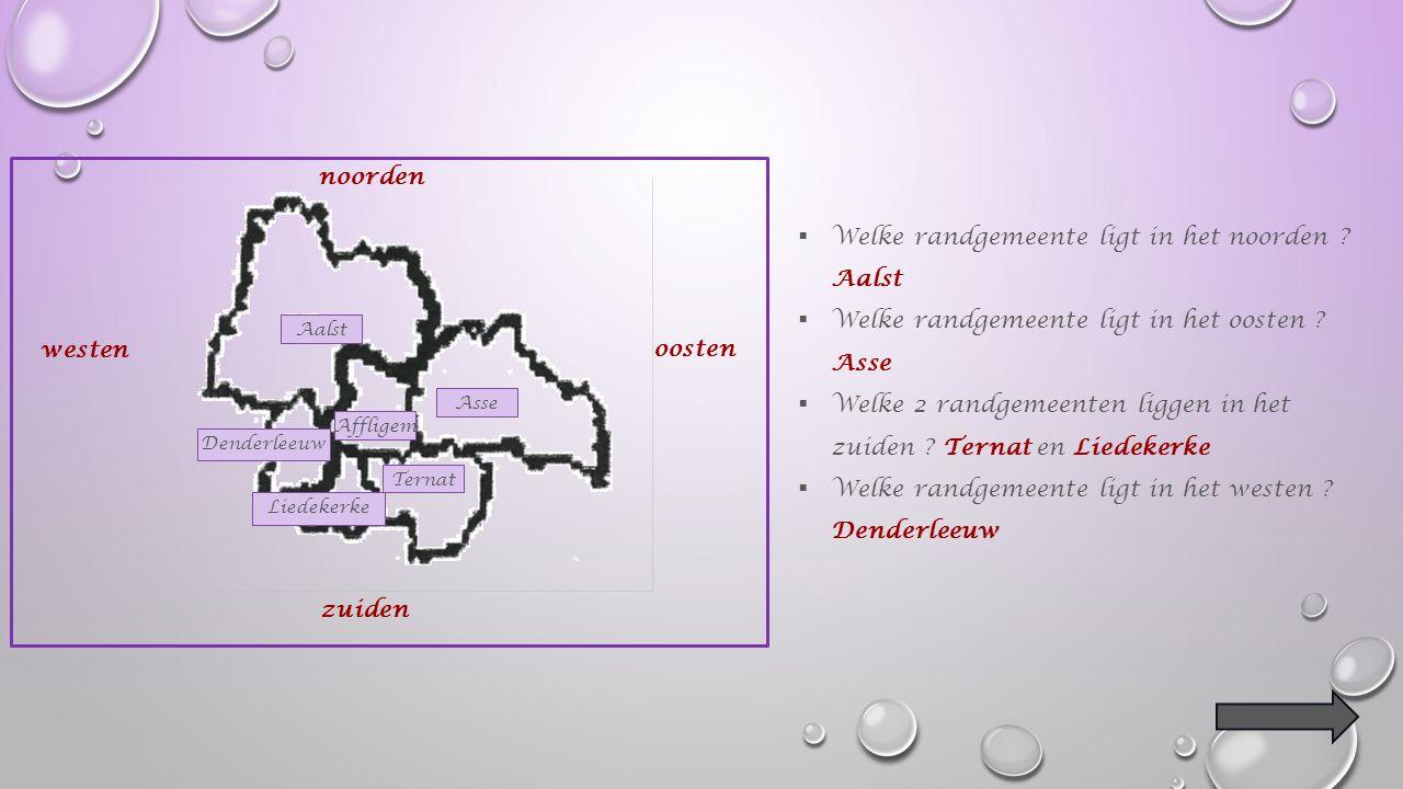 Rondom Affligem liggen nog verschillende andere gemeenten.
