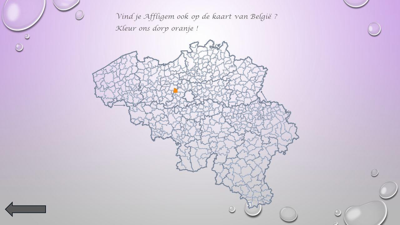 Kleur Affligem op de provinciekaart in het oranje.