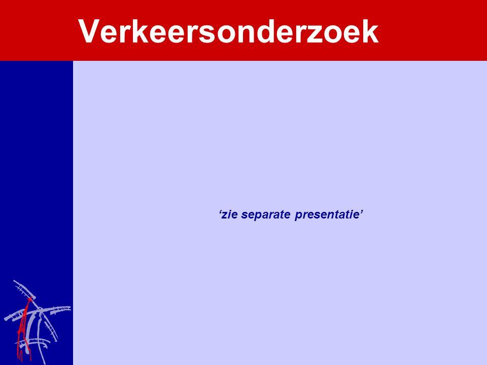 Verkeersonderzoek 'zie separate presentatie'