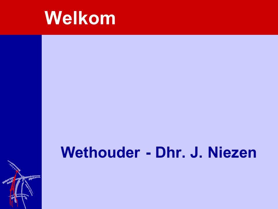 Welkom Wethouder - Dhr. J. Niezen