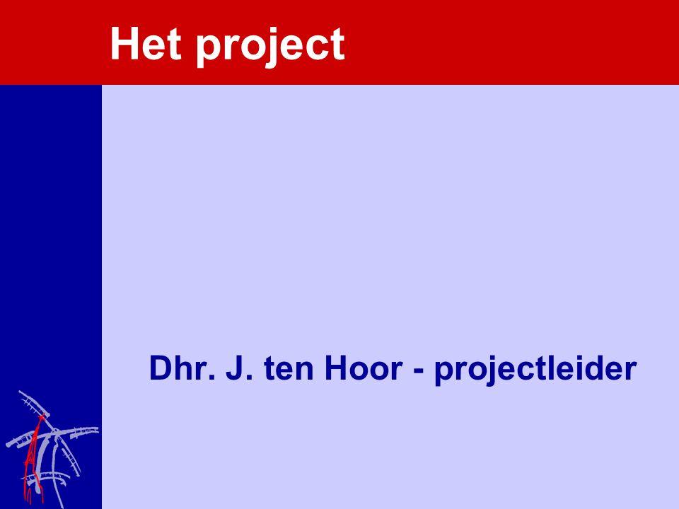 Het project Dhr. J. ten Hoor - projectleider