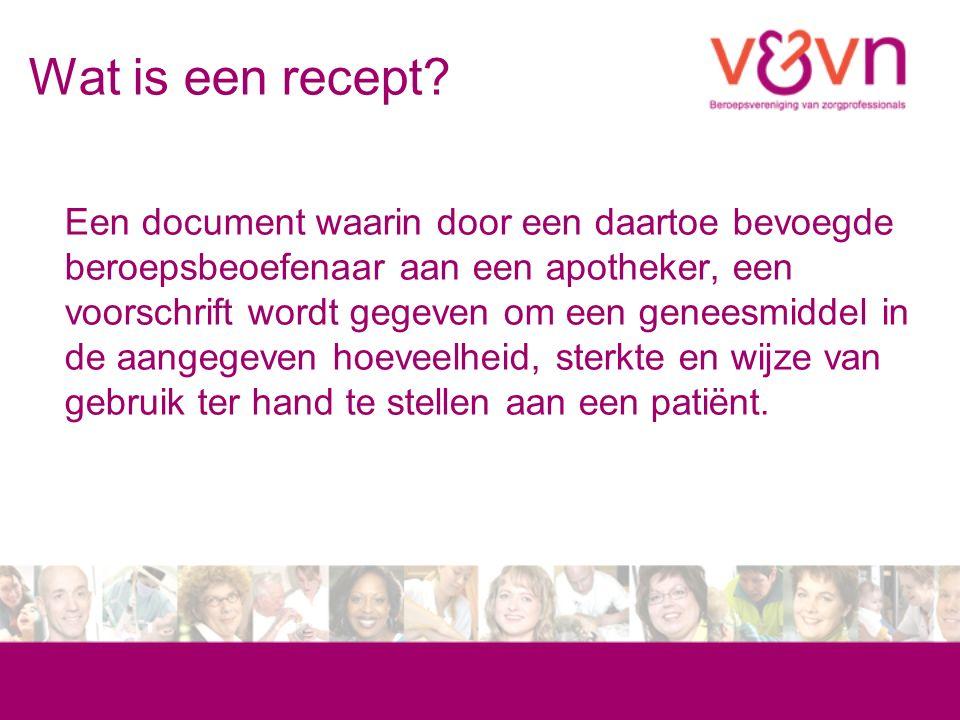 Wat is een recept.