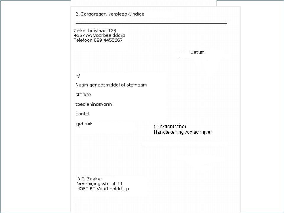 29 mei 2016Verpleegkundigen & Verzorgenden Nederland (Elektronische) Handtekening voorschrijver