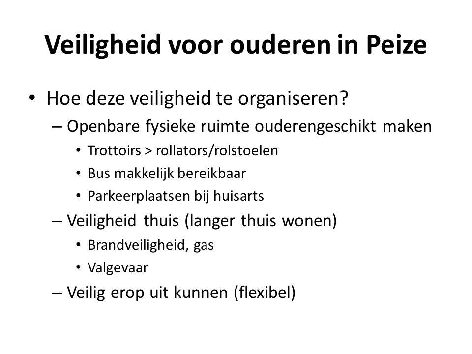 Veiligheid voor ouderen in Peize Hoe deze veiligheid te organiseren.
