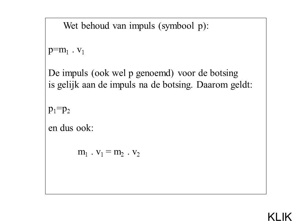 Wet behoud van impuls (symbool p): p=m 1.
