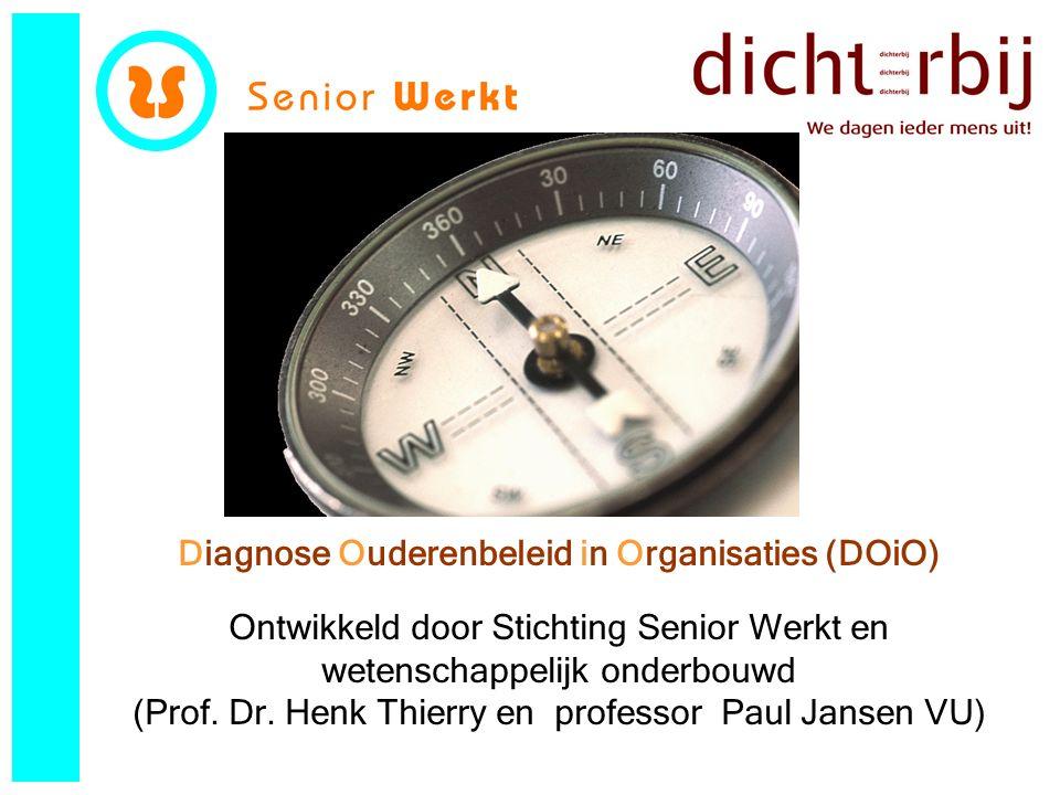 Diagnose Ouderenbeleid in Organisaties (DOiO) Ontwikkeld door Stichting Senior Werkt en wetenschappelijk onderbouwd (Prof.