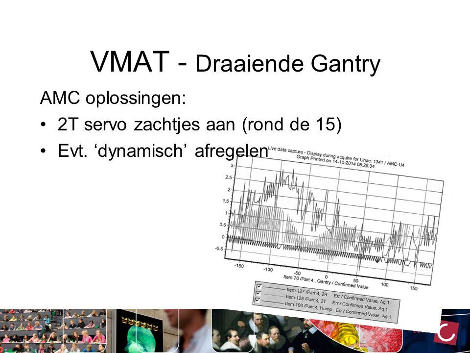 FFF - QA Dosimetrie: - Wekelijks: Output meting (500ME) -3 mnd: Fieldunflatness (Schuster!) -Jaarlijks: Waterbak -Jaarlijks: Dosimetrie 2 Positioneel: - Maandelijks: MimiPro