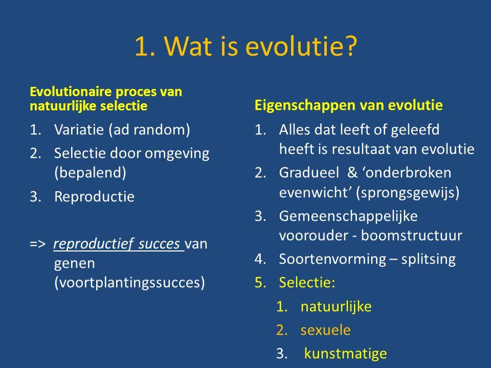 1.Wat is evolutie.