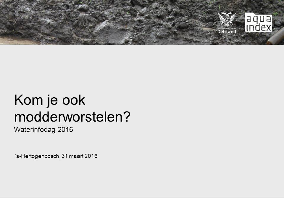 Kom je ook modderworstelen Waterinfodag 2016 's-Hertogenbosch, 31 maart 2016