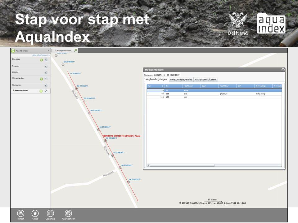 Stap voor stap met AquaIndex Meetpunten op de kaart