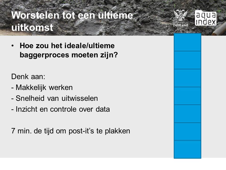 Worstelen tot een ultieme uitkomst Hoe zou het ideale/ultieme baggerproces moeten zijn.