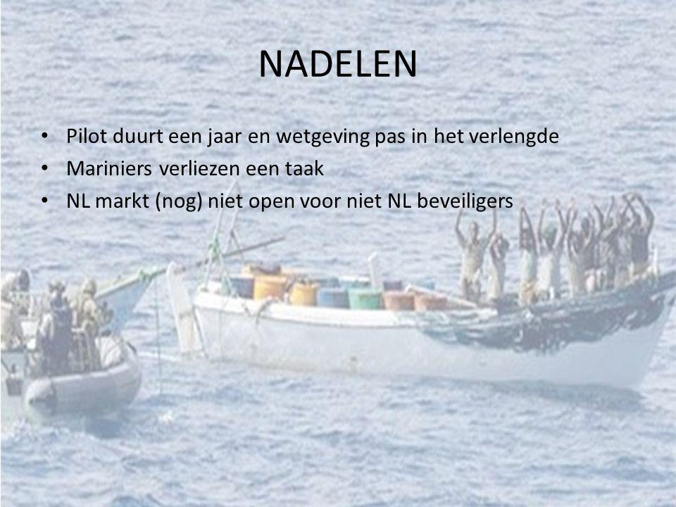 NADELEN Pilot duurt een jaar en wetgeving pas in het verlengde Mariniers verliezen een taak NL markt (nog) niet open voor niet NL beveiligers